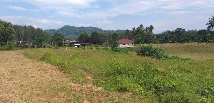 Last opportunity…. The last plot of land for sale. 10 minutes from Khao Lak and 8 minutes from the beach.