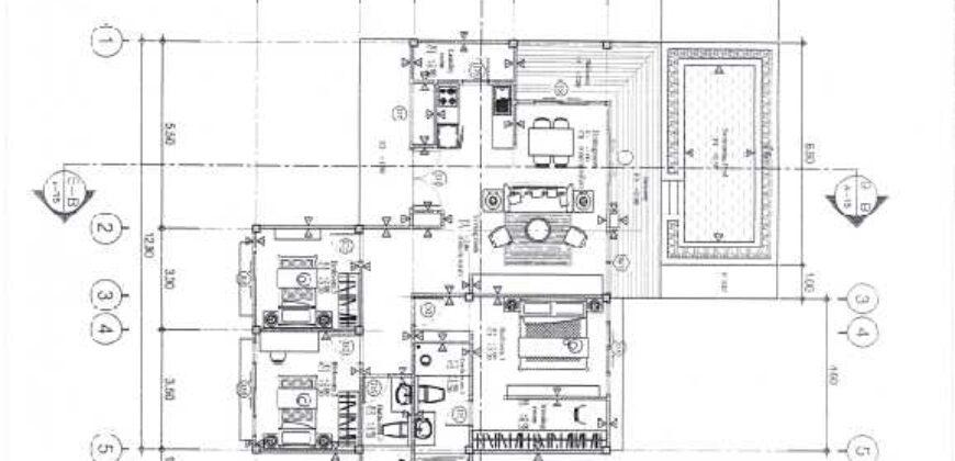 Construction project of 3 bedrooms pool villa in Khao Lak.