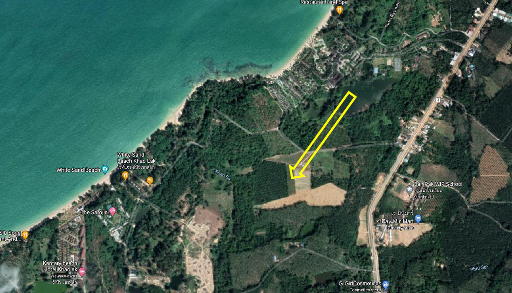 Land for sale in Khaolak 5 minute-walk to the beaches